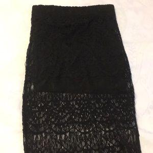 Rue 21 Black Lace Skirt